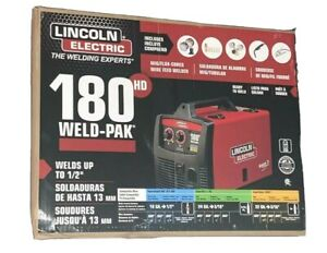 New Lincoln Electric 180 Amp Weld pak 180 Hd Mig Wire Feed Welder With Magnum