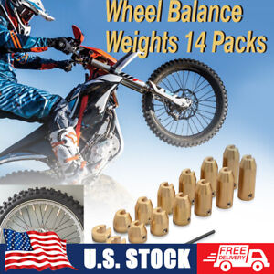 Universal Motorcycles Reusable Brass Wheel Spoke Balance Weight 14pcs 12pcs 8pcs