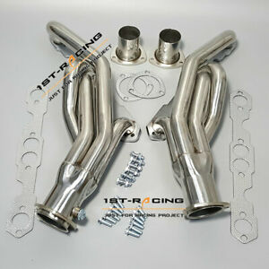 T 304 Stainless Exhaust Headers For Chevy Gmc Truck 1500 2500 3500 V8 5 0l 5 7l