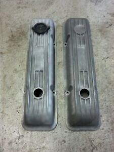 Ansen Aluminum Fin Valve Covers Small Block Chevy Motion Baldwin Classic Vintage