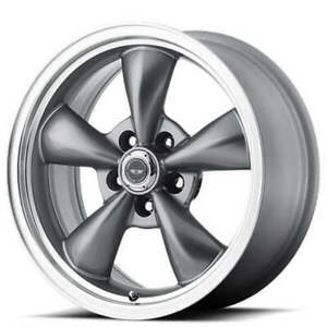 4 18x8 American Racing Wheels Ar105m Torq Thrust M Anthracite Rims B42