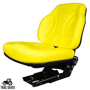 Yellow Suspension Seat For John Deere Tractor Part Numbers Re61377 Re188293