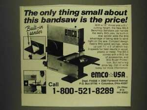 1985 Emco Bs 3 Benchtop Bandsaw Ad The Only Thing Small About This Is