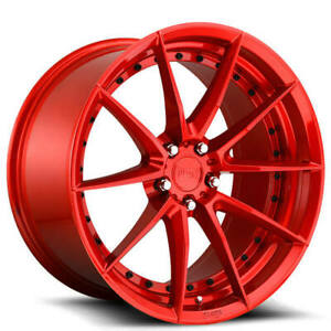 4 20 Niche Wheels M213 Sector Gloss Red Rims b45
