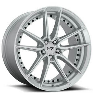 4 22 Niche Wheels M221 Dfs Silver Machined Rims b45