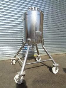 20 Gallon 316 Stainless Steel Vacuum Processing Tank Vertical And Portable