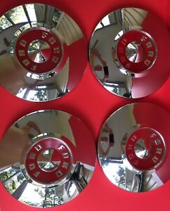 1955 1956 Ford Thunderbird Centers Hubcaps For 15 Ford Wheel