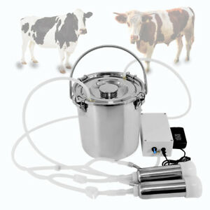 5l Portable Electric Milking Machine For Farm Cow W stainless Steel Bucket