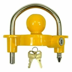 Universal Trailer Hitch Coupler Lock Out Ball Tongue Steel 1 7 8 2 2 5 16 New
