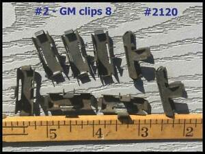 Nos 1941 Gm Chevrolet Running Board Moulding Clips Rear Fender Shield Guard