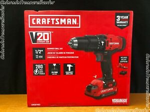 Craftsman Cmcd711c2 V20 Lithium Ion 1 2 Hammer Drill Kit