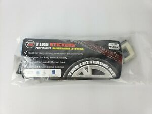 Tire Lettering Pre Curved Permanent Raised Letters Logo White Red Dodge 1 25