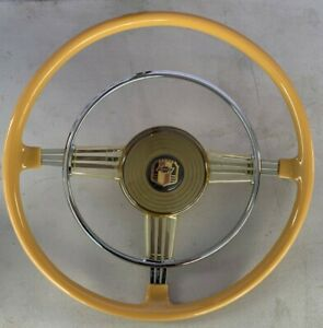 Chevy 1948 Chevrolet Original Recasted Gm Accessory Banjo Steering Wheel