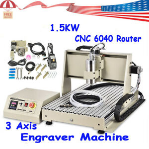 1 5kw 3 Axis Diy Cnc 6040 Router Kit Carving Drilling Milling Engraving Machine