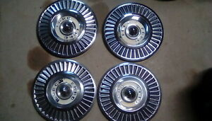 1957 Ford Thunderbird Hub Caps 14 Set Of 4 Wheel Covers T Bird