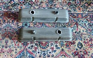 Vintage Cal Custom Small Block Chevy Valve Covers Rare Made In Gardena Ca 327