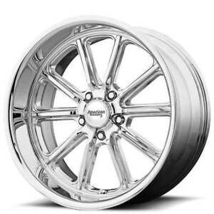 4 20 Staggered American Racing Wheels Vn507 Rodder Chrome Rims b43
