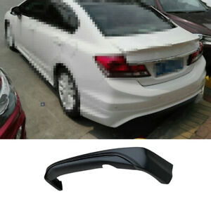For Honda Civic 9th 2012 2013 Rear Bumper Diffuser Lip Spoiler Refit Matte Black