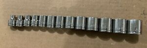 Blue Point By Snap on 3 8 Drive 13 Pc Sae 1 4 1 6 Point Shallow Socket Set