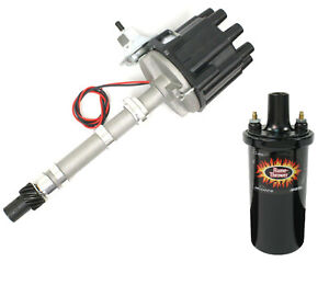 New Chevrolet Chevy Pertronix Flame Thrower Distributor D104600 Coil 40011