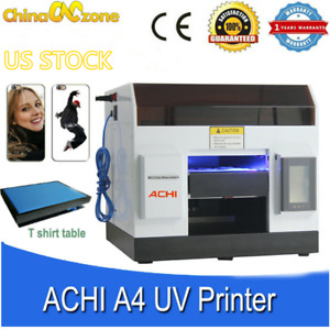 Achi Uv Printer Flatbed Printer Epson L800 Printing Metal Phone Case Glass Sign