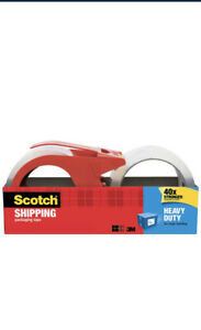 Scotch Heavy Duty Packaging Tape Wit Dispenser Clear 1 88 X 38 2 Yds 1 Total
