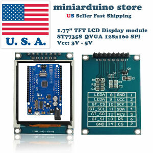 1 77 Inch 1 8 Tft Color Display Module Breakout Spi St7735s For Arduino Uno Lcd