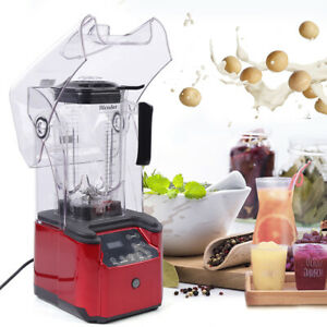 Commercial Electric Soundproof Cover Blender Juicer Smoothie Maker Mixer Usa