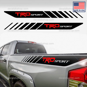 Trd Sport Decals Bedside Toyota Tacoma Truck 4x4 Stickers Graphic 2u