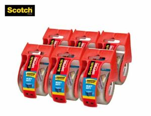 Hot Scotch Heavy Duty Shipping Packaging Tape 1 88 X 800 Inches 6 Rolls pack