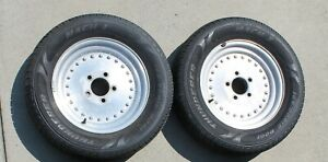Two Center Line Wheels With Tires Gm Pontiac Buick