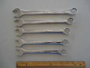 New 5pc S K Metric Chrome 12pt Combination Wrenches 24mm 22 21 20 19mm Usa