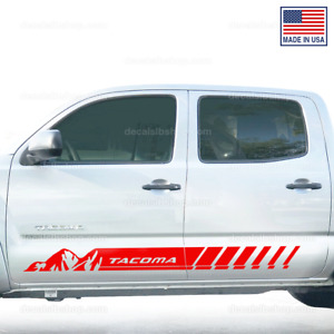 X2 Tacoma Mountain Side Door Trd Toyota Truck Decals Sticker Graphics Stripes