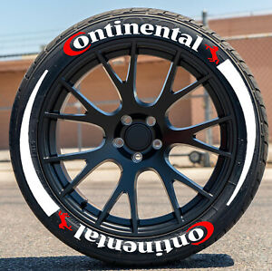Tyre Stickers Continental Tire Lettering Flares 1 00 15 22 Raised Rubber