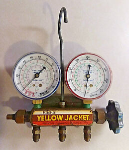 Yellow Jacket Test Charging Manifold By Ritchie R 502 R 22 R 12 With Covers