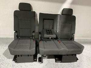 2007 2019 Gmc Chevrolet Tahoe Rear 2nd Row Seat Yukon Escalade Black Cloth
