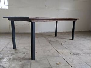 Commercial Dining Tables 8 10 Top Solid Wood Alder With Steel Legs