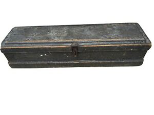Cool Old Antique Tool Cash Box Chest Trunk