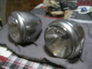 Blc Guide 682 j Headlights Original Pair Custom Rod Ford Chevy Plymouth Gmc