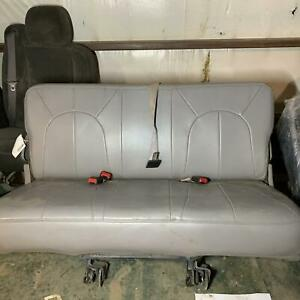 1999 Lincoln Navigator 3rd Row Back Rear Folding Leather Bench Seat Gray