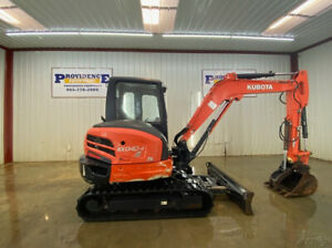 2016 Kubota Kx040 4 Cab Mini Compact Excavator With Ac heat