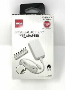 Rca 2500 Ma Universal Ac To Dc Adjustable Voltage Power Supply Adapter