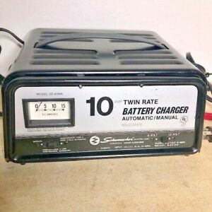Vintage Schumacher Se50ma 12v 10 Amp Twin Rate Automatic Manual Battery Charger