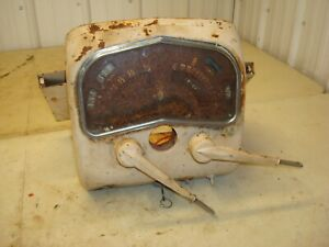 1959 Case 611b Tractor Dash Instrument Panel W Levers 600 b