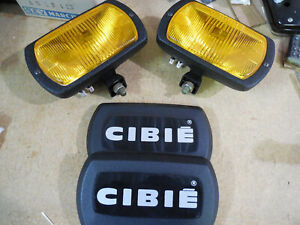 Cibie Type 95i Amber Fog Lamps pair Complete W bulbs Covers Genuine Nos