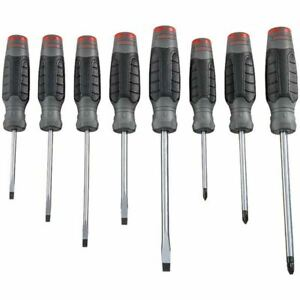 Blackhawk By Proto J1208sc 8 Pc Slotted phillips Ergo Screwdriver Set