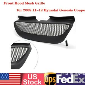 Black Front Hood Mesh Grille Fits For 2008 11 12 Hyundai Genesis Coupe