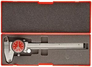 Starrett R120a 6 one Rev Precision Dial Caliper Stainless Steel Red Face