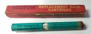 Nos Milton No 507 Replacement Gage Cartridge For Tire Inflator