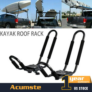 Kayak Roof Rack Top Mount Carrier Folding Canoe Boat J Cross Bar For Car Suv